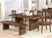 Tucson 3 Piece Dining Set in Natural Wood Finish by Coaster - 108171-3