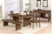 Tucson 5 Piece Dining Set in Natural Wood Finish by Coaster - 108171