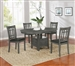 Lavon 5 Piece Dining Set in Medium Grey Finish by Coaster - 108211