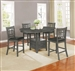 Lavon 5 Piece Counter Height Dining Set in Medium Grey Finish by Coaster - 108218