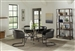 Aviano 5 Piece Round Dining Set in Gunmetal Finish by Coaster - 108291