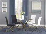 Chanel 5 Piece Dining Table Set in Brass Finish by Coaster - 108441