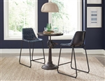 Rinconia 3 Piece Adjustable Height Dining Table Set in Matte Black Finish by Coaster - 108611