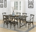 Hawthorne 5 Piece Dining Set in Brown Finish by Coaster - 108751