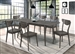 Eureka 5 Piece Dining Set in Dark Grey Finish by Coaster - 109301