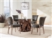 Asbury 5 Piece Round Dining Set in Natural Teak Finish by Coaster - 109511