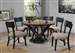 Greenwich 5 Piece Dining Set in Natural Walnut and Espresso Finish by Coaster - 109790
