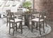 Athens 5 Piece Counter Height Dining Set in Barn Grey Finish by Coaster - 109858
