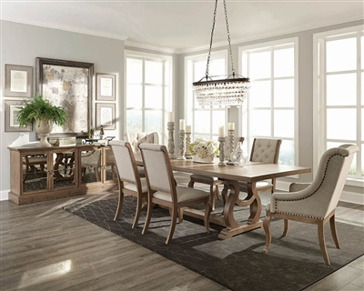 Brockway 7 Piece Dining Set in Barley Brown Finish by Scott Living - 110291-7