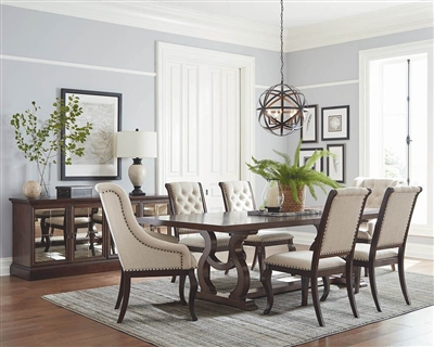 Brockway 7 Piece Dining Set in Antique Java Finish by Scott Living - 110311-7