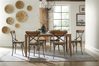 Barrett 5 Piece Dining Set in Natural Finish by Coaster - 110611