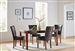 Telegraph 5 Piece Dining Set in Warm Brown Finish by Coaster - 120310
