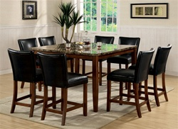 5 Piece Counter Height Dining Set in Deep Cherry Finish by Coaster - 120317