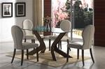San Vicente 5 Piece Dining Set in Nut Brown Finish by Coaster - 120361