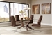 San Vicente 5 Piece Dining Set in Nut Brown Finish by Coaster - 120361-B