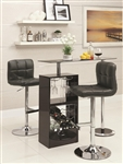 Black Finish Bar Table by Coaster - 120451