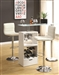 White Finish Bar Table by Coaster - 120452