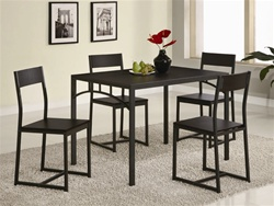 5 Piece Dining Set in Cappuccino Finish by Coaster - 120569