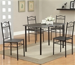 Dixon 5 Piece Dining Table Set by Coaster - 120573