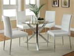 Vance 5 Piece Round Glass Top Dining Set by Coaster - 120760