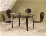 Glass Top 5 Piece Dining Table Set by Coaster - 120791