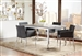 Mckenzie 5 Piece Dining Set in Weathered Grey and Chrome Finish by Coaster - 121121