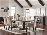 Phelps 7 Piece Trestle Table Dining Set in Antique Noir Finish by Coaster - 121231-7
