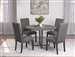 Gamila 5 Piece Dining Set in Dark Oak Finish by Coaster - 121741