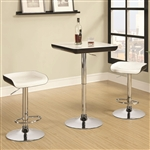 Adjustable Height 3 Piece Bar or Counter Table Set by Coaster - 122100