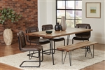 Chambler 5 Piece Dining Set in Natural Honey Finish by Coaster - 122231-B