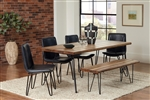Chambler 5 Piece Dining Set in Natural Honey Finish by Coaster - 122231-CH