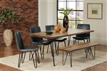 Chambler 5 Piece Dining Set in Natural Honey Finish by Coaster - 122231-G