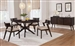 Jarmen 5 Piece Oval Dining Set in Medium Brown Finish by Coaster - 122520-LB