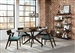 Jarmen 5 Piece Oval Dining Set in Medium Brown Finish by Coaster - 122520-T