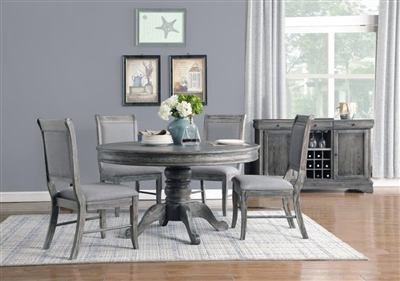 Darcy 5 Piece Round Table Dining Set in Weathered Ash Finish by Coaster - 123090-5