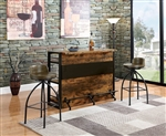 Industrial Bar Unit in Antique Nutmeg Finish by Coaster - 130071