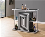 Black and White Contemporary Bar Unit by Coaster - 130076
