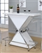 Glossy White Contemporary Bar Unit by Coaster - 130078