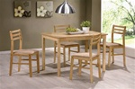 5 Piece Dining Set in Natural Finish by Coaster - 150003