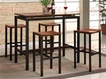 5 Piece Wood and Metal Counter Height Dining Set by Coaster - 150097