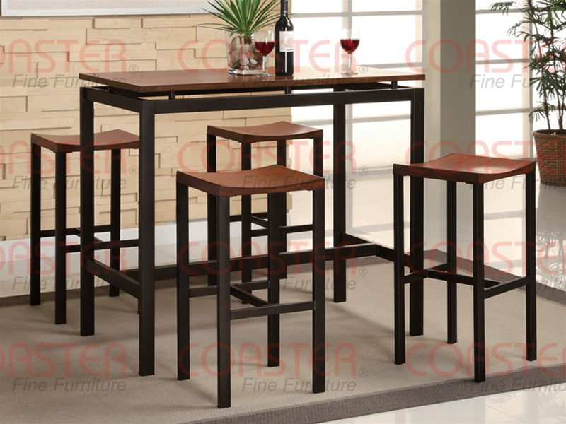 5 Piece Wood And Metal Counter Height Dining Set By Coaster 150097