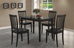 5 Piece Dining Set in Rich Cappuccino Finish by Coaster - 150152