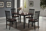 5 Piece Dining Set in Two Tone Finish by Coaster - 150153