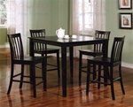 5 Piece Counter Height Dining Set in Black Finish by Coaster - 150231BLK