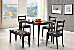 5 Piece Dining Set in Cappuccino Finish by Coaster - 150232
