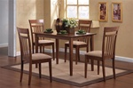 5 Piece Dining Set in Walnut Finish by Coaster - 150430
