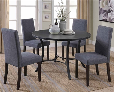 5 Piece Dining Set in Matte Black Finish by Coaster - 150521