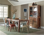 Highland 5 Piece Dining Set in Reclaimed Wood Multicolor Finish by Coaster - 180161