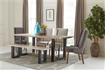 Levine 5 Piece Dining Set in Weathered Sand Finish by Coaster - 180181