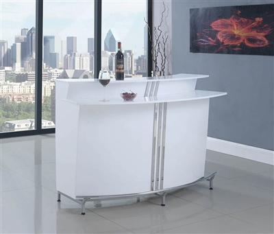 Glossy White Bar Unit by Coaster - 180239